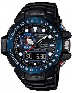 5ca8a10f88c Casio Mens G-Shock Gulfmaster Atomic - Black   Blue- Triple Sensor - 2
