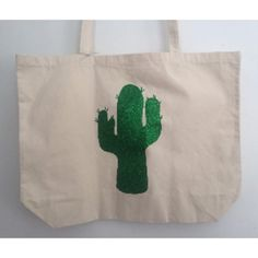 Glitter Cactus Canvas Bag ($22) ❤ liked on Polyvore featuring bags, handbags, sparkly handbags, brown bag, canvas purse, sparkly purses and glitter handbag