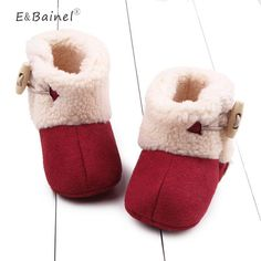 Winter Baby Booties Warm Newborn Baby Girls Shoes First Walkers Shoes Infant Toddler Soft Bottom Anti-slip Baby Snow Boots  #upcube