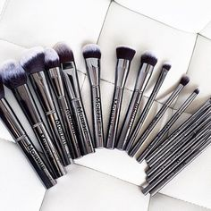 """The most glamorous brushes on Our Gunmetal brushes are bangin' Shop these beauties on www.morphebrushes.com @vanitymakeup #morphebrushes"""