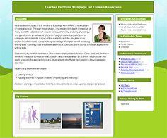 This is a site to create an online teacher portfolio.