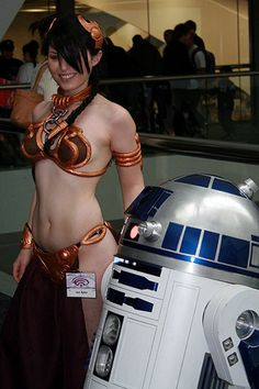 Slave Leia and R2-D2, Star Wars.