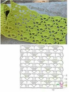 Crotchet Stitches, Crochet Stitches Patterns, Crochet Designs, Knitting Patterns, Rose Patterns, Stitch Patterns, Hexagon Crochet Pattern, Crochet Motifs, Crochet Diagram