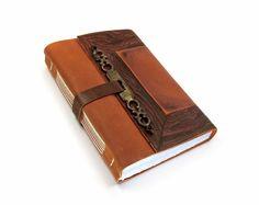 Handmade Journal  Leather Bound Vintage by MedievalJourney on Etsy, 68.00