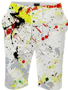 Paint Splatter SHORTS created by gravityx9 | Print All Over Me