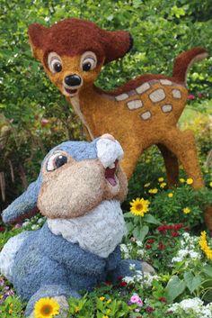 Bambi and Thumper Epcot Flower and Garden Festival Orlando Florida