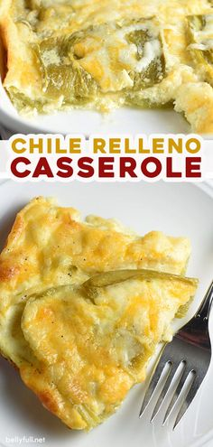 A cheater version of the classic Mexican Chile Relleno, this Chili Relleno Casserole recipe has layers of gooey cheese and peppers, with puffy clouds of baked eggs on top. So delicious. And crazy easy. Serve it for breakfast, brunch, lunch, or dinner!
