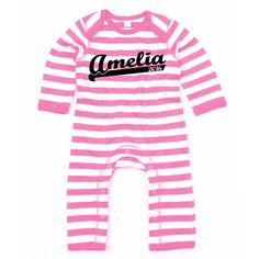 Super sporty stripy baby grow is the perfect outfit for your trendy tots!