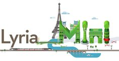 A new advertising campaign Mini for Lyria-TGV railway. Smart City, Graphic Design Print, Advertising Campaign, Art Director, Ladies Day, Graphic Illustration, Statue Of Liberty, Mini, Artist