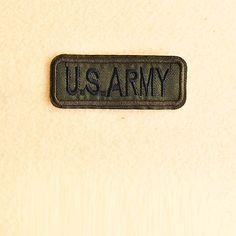 Army Patch - Iron on patch -Sew On patch - Embroidered Patch (Size 7.9cm x 3cm)