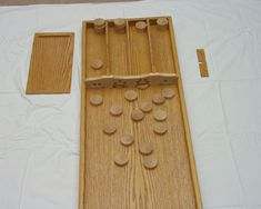 sjoelbak -- view of game Bamboo Cutting Board, Hobbies, Entertainment, Woodworking, Projects, Building, Tools, Games, Furniture