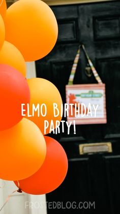 Diy Party Decorations, Party Themes, Party Ideas, Elmo Birthday, Birthday Parties, Elmo Party, Sesame Street Birthday, Summer Activities For Kids, Candyland