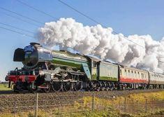 Lego Trains, Old Trains, Train Tracks, Train Rides, Steam Art, Old Steam Train, Flying Scotsman, Old Train Station, Abandoned Train