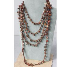 Stone Chip Necklace or Stackable Wrap Bracelet