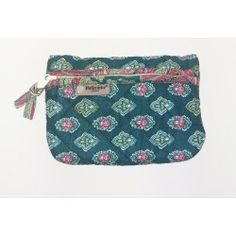 Quilted Pouch Calisson Emerald Green