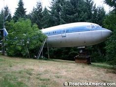 For over a dozen years Bruce Campbell has been slowly transforming a jet airliner, dragged to a wooded hilltop, into a home for himself. State Of Oregon, Oregon City, Portland, Hillsboro Oregon, Salem, Oregon Waterfalls, Cross Country Trip, Evergreen Forest, Local Activities