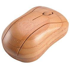 Uno de los nuevos diseños para mouse inalámbricos realizados con bamboo