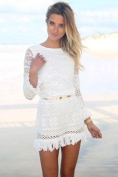 Pacha Crochet Dress | SABO SKIRT www.saboskirt.com