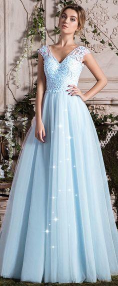 Buy discount Fantastic Tulle V-neck Neckline A-line Wedding Dress ...