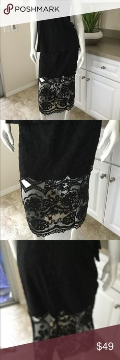 Jen's Pirate Booty Tesoro Black Lace Skirt Classic Jen's Pirate Booty fitted lace skirt, lined to mid calf for that sexy feel.  Zippered back & diamond accent cutouts, this one couldn't be cuter. BNWT from my brick & mortar shop! Spring is here it's time to bring on the lace! Jen's Pirate Booty Skirts Maxi