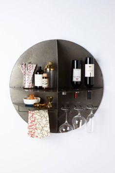Anthropologie  Bottoms-Up Bar Shelf