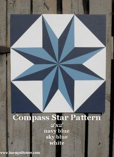 compass star quilt square | ... quilt square for outside or inside display each barn quilt is