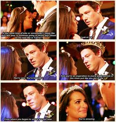 aww! Makes me almost tear up its so sweet...Finn and Rachel are perfect. <3 #Finchel #glee
