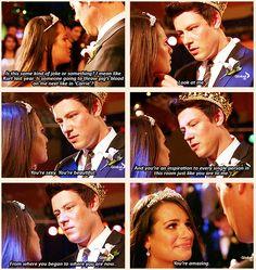 aww! Finn and Rachel are perfect. <3 #Finchel #glee