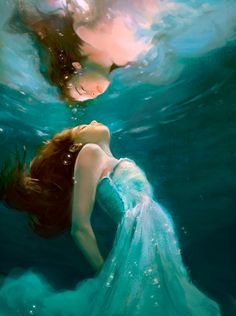 Her hands are tied she can do nothing she sinks lower  and lower into the ocean she almost drowned feels something grab her and pull her she blacks out