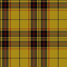 """~+~+~+~ MacLeod Tartan ~+~+~+~  This most recognizable  MacLeod tartan is best known as  """"loud"""" MacLeod, a yellow tartan with three broad black bands and a narrow red line. The MacLeods were a powerful clan and had great influence in the Highlands. The 13th chief, Rory Mor, was knighted in 1603 by James VI. They supported King Charles II at Worcester in 1651, when almost 700 MacLeods are said to have been killed. They did not support the Jacobite Risings of 1715 and 1745."""