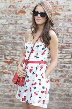 Fun Cherry Printed Dress ;)