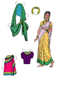 Padma's Family Paper Dolls