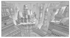 ArtStation - Indian temple Environment sketch, Harshanand Singh