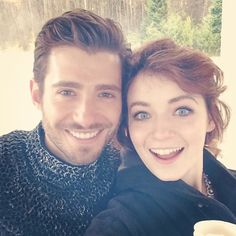 Julian Morris and Sarah Bolger (Phillip & Aurora of Once Upon A Time)