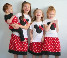 DIY Minnie Mouse Matching Tees and Skirts - adorable!!