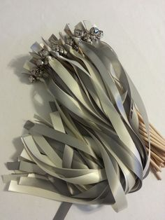 200 Ribbon Bell Wands ~ Divinity Braid ~ Send off Bells ~ Wedding Wands ~ Ribbon wands ~ Ribbon Bell Wavers ~ Bell Wands ~ Ribbon Bells by DivinityBraid on Etsy