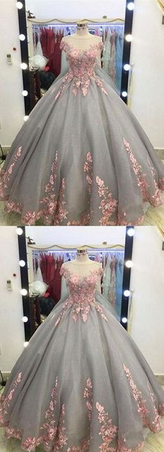 Charming Prom Dress,Ball Gown Prom Dresses,Appliques Lace Evening Dress,Formal Evening Dresses,Women on Luulla Unique Prom Dresses, A Line Prom Dresses, Quinceanera Dresses, Ball Dresses, Pretty Dresses, Beautiful Dresses, Ball Gowns, Prom Gowns, Lace Prom Gown