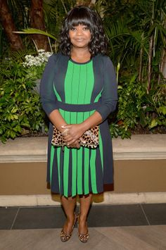 Octavia Spencer is quickly becoming my best dressed celebrity.  I love the pleating detail on this dress.