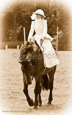 Side Saddle Riding Outfit- Goldie and I would be adorable. I shall need a powder blue riding habit.