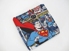 Superman Inspired Wallet Geek Chic Bi fold by SewItThemes on Etsy