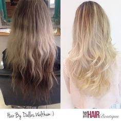 Amazing before and after by Dallas Waltham. Dallas is one of our Senior Stylists and is very experienced with colour. In this before and after shot you can our client was in desperate need of help with her hair colour. Luckily Dallas was able to give her this beautiful Blonde Balayage. Not only has the colour been renewed, but Dallas has restored the health and condition of the hair by treating his client to Olaplex.