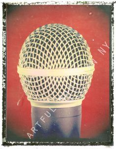 red microphone art mic print 11 x 14  polaroid by artfulmusicianNY, $25.00