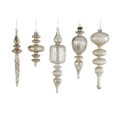 I love these ornate, old ornaments. Want them to hang in our windows for this time of year!
