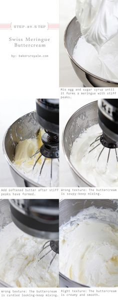 How to Make Swiss Meringue Buttercream Tutorial @Sara Eriksson Baker Royale | Naomi