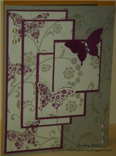 FireFly's Cards - Stampin' Up! Quadruple Time Stamping with Flowering Flourishes and Papillon Potpourri