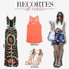 Compre moda com conteúdo, www.oqvestir.com.br #Fashion #Recortes #Farm #MyShoes #Bobstore #Print #Pretty #Summer #Look