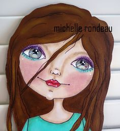 Wood And Fabric Michelle Rondeau Poupée peinte