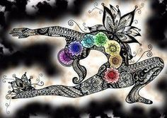 Lindo zentangle & chakras... Art journal inspiration for my yoga practice