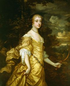Frances Stuart, Duchess of Richmond, one of the eleven 'Windsor Beauties,' celebrated women at the Restoration Court. before 1662.