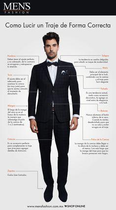 Conoce los elementos que conforman el #traje perfecto del hombre moderno. ¡Viste #Fashion! www.mensfashion.com.mx